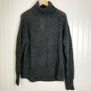 NWT Grey H&M Mohair Blend Turtle Neck Sweater Xs
